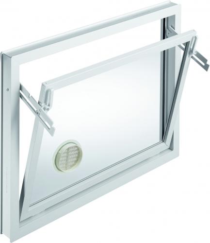 Brandneu MEALON Kunststoff Fenster Abluftfenster, weiß - Kellerlichtschacht  YI64