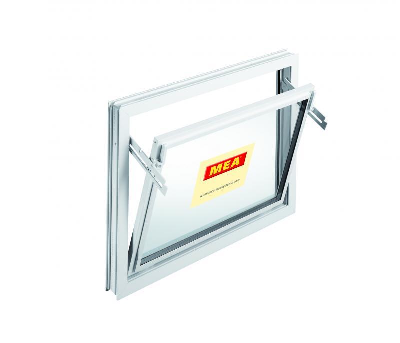 Mealon kunststoff fenster kipp iso 24 wei for Garagenfenster kunststoff