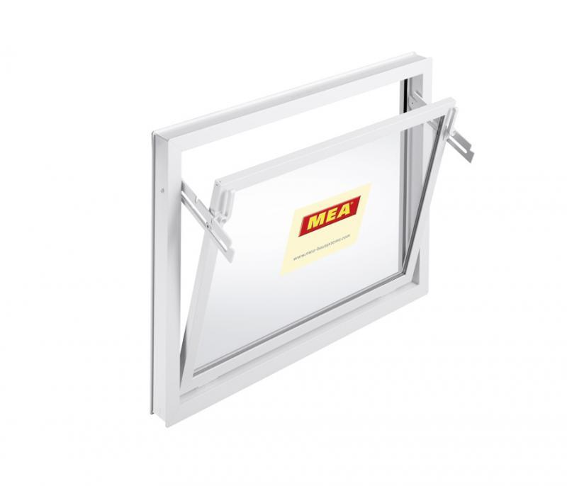 Mealon kunststoff fenster kipp iso 14 wei for Garagenfenster kunststoff